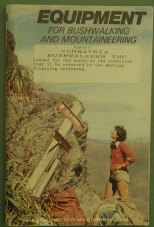 equipment for bushwalking  mountaineering