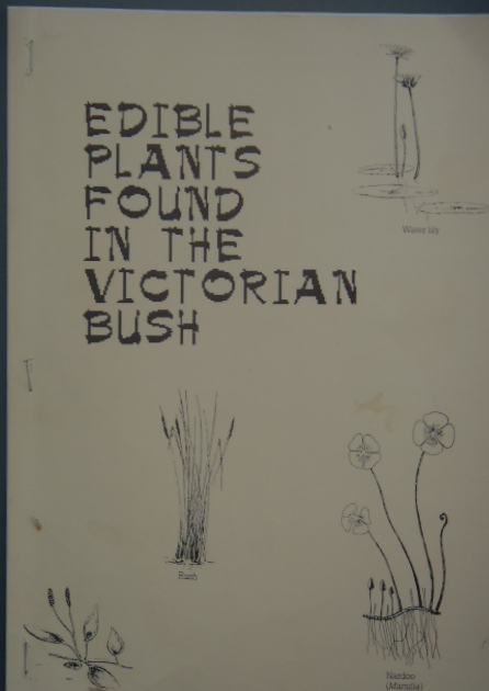 edible plants found in the victorian bush - phamplet