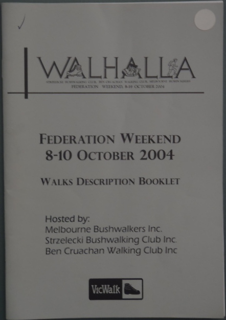 fed walk - 2004 - walhalla